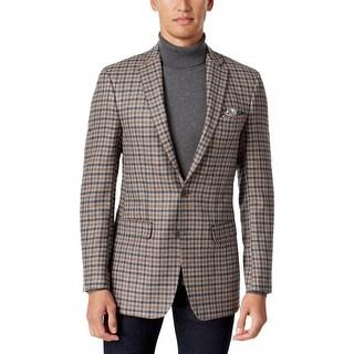 Tallia Mens Blazer Wool Check