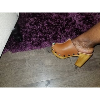 Charles David Cari Women  Open Toe Leather  Platform Sandal