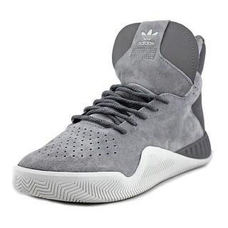 Adidas Tubular Instinct Youth Round Toe Suede Gray Tennis Shoe