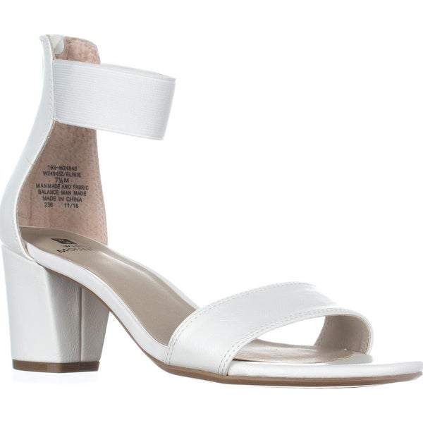White Mountain Elinie Ankle Strap Dress Sandals, White