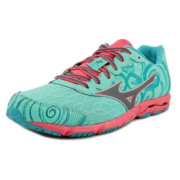 Mizuno Wave Hitogami 2 Women Round Toe Synthetic Green Running Shoe