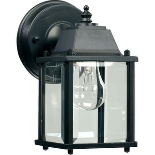 Quorum International Q780 1 Light Outdoor Wall Sconce with Clear Beveled Shade