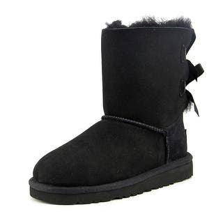Ugg Australia K Bailey Bow Round Toe Suede Winter Boot|https://ak1.ostkcdn.com/images/products/is/images/direct/a699046f3f0b236294e6cf988d3609ec97ea9344/Ugg-Australia-K-Bailey-Bow-Youth-Round-Toe-Suede-Black-Winter-Boot.jpg?impolicy=medium
