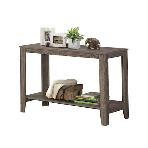Offex Contemporary Rectangular Sofa Console Table with Tapered Legs - Dark Taupe