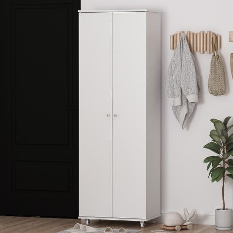 2-Doors 9 Tires Shoes Cabinet With Large Storage Space
