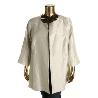 Eileen Fisher Womens Plus Silk Open front Blazer - 1X