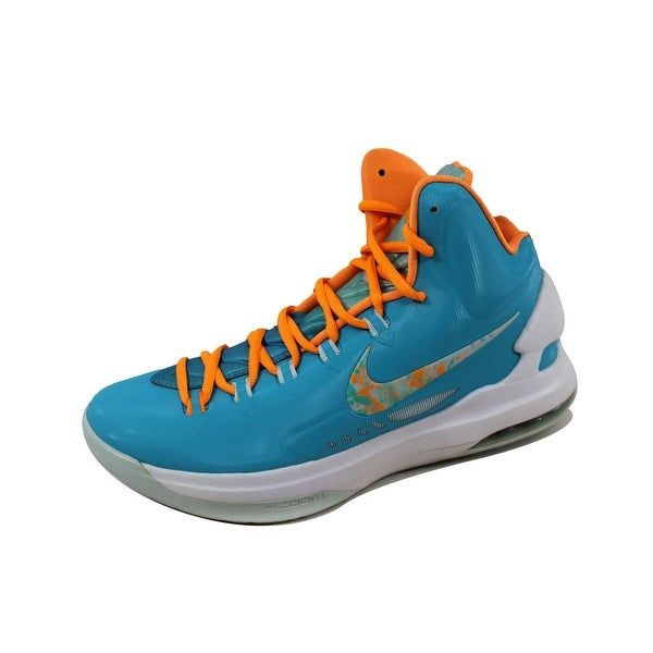 separation shoes 77401 0a176 Nike Men  x27 s KD V 5 Easter Turquoise Blue Bright Citrus-