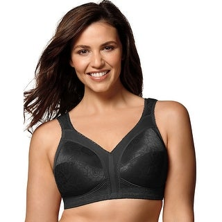 Playtex 18 Hour Original Comfort Strap® Wirefree Bra - Size - 40H - Color - Black