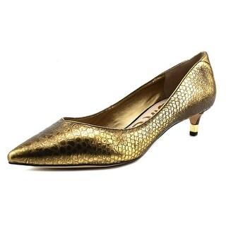 Sam Edelman Laura Women Pointed Toe Leather Gold Heels