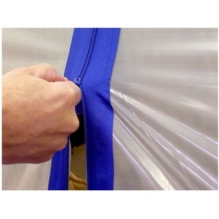"Surface Shields ZC02 Zip N Close Self Adhesive Zippers, 3"" x 7'"