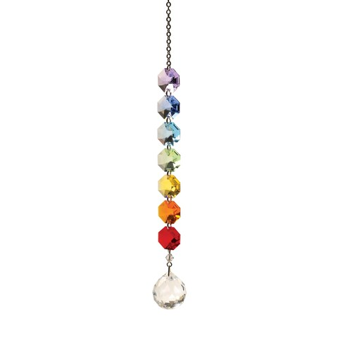 Woodstock Percussion Crystal Rainbow Maker - Hanging Sun Catcher Mobile - 10 in.