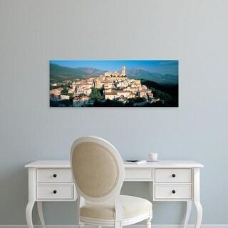 Easy Art Prints Panoramic Image 'View of a town, Goriano Sicoli, L'Aquila Province, Abruzzo, Italy' Canvas Art