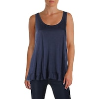 dd67a54841325 Shop Three Dots Womens Tank Top Extended Shoulders Striped - Free ...