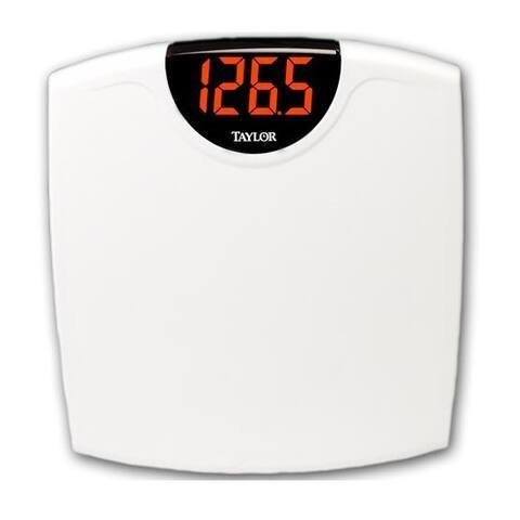 Taylor 98564012 LED Electronic Digital Scale, White