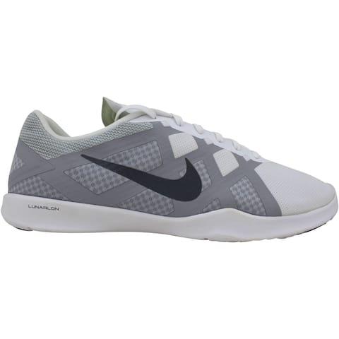 Nike Lunar Lux TR White/Dark Grey-Wolf Grey-Volt 749183-100 Women's