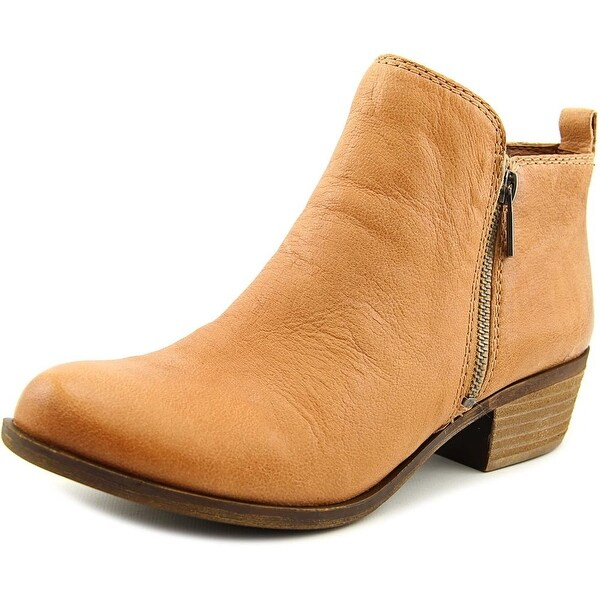 Lucky Brand Basel Women  Round Toe Leather Tan Ankle Boot