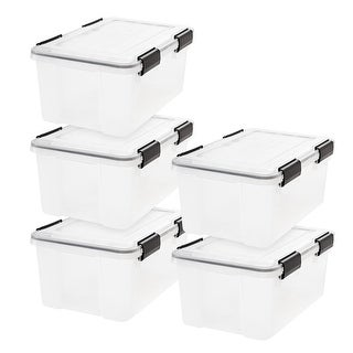 Link to 19 Qt. Weathertight Storage Box in Clear (5-Pack) Similar Items in Storage & Organization