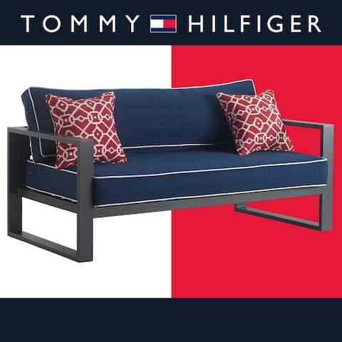 "Tommy Hilfiger Monterey Outdoor 65"" Sofa, Gray Gunmetal"