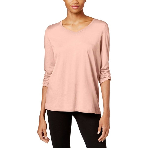 Shop Hue Womens Sleep Shirt V-Neck Long Sleeves - Free Shipping On ... 5b1027baa