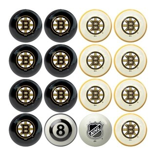NHL Boston Bruins Billiard Balls Complete Set of 16
