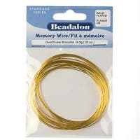 Beadalon Oval Bracelet Size Memory Wire Gold Plated Steel 23 Loops .35 Oz