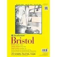"""20 Sheets - Strathmore Bristol Smooth Paper Pad 14""""X17"""""""