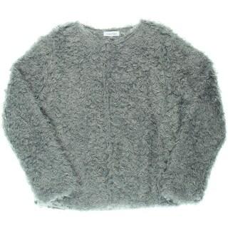 Calvin Klein Womens Faux Fur Lined Casual Blazer
