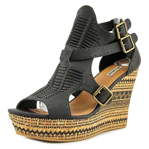 Not Rated TraflgarSquare Women Black Sandals