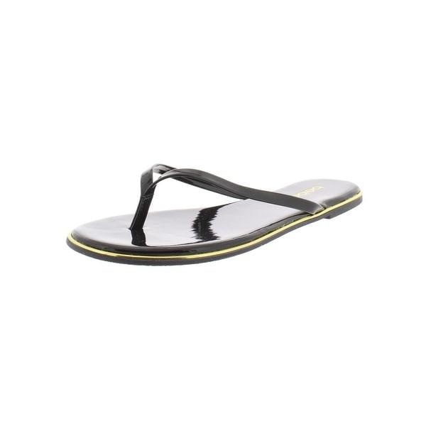 49be7118520d Shop Bebe Womens Ilistra Flip-Flops Patent Slide - Free Shipping On ...