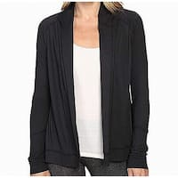 Balance Black Womens Size Small S Cardigan Open Front Sweater