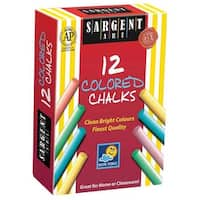 Sargent Art - Dustless Chalk - 12-Stick Set - Assorted Colors