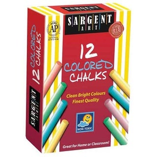 Sargent Art - Dustless Chalk - 12-Stick Set - Assorted Colors