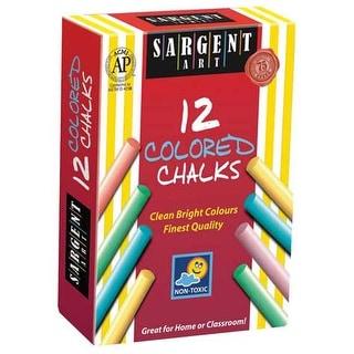 Sargent Art - Dustless Chalk - 12-Stick Set - White