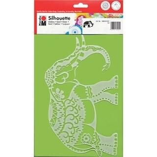 Marabu Silhouette Stencils Dina4-Indian Elephant