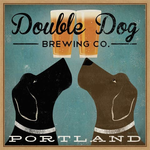 Double Dog Brewing Co by Ryan Fowler Framed Canvas Art