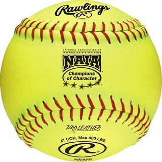 "Rawlings 12"" NAIA Fastpitch Softball (Dozen) Optic Yellow 12"