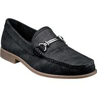 Stacy Adams Men's Kelby Moc Toe Bit Loafer 25088 Black Suede