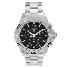 Tag Heuer Men's 'Aquaracer' CAF101E.BA0821 Stainless Steel Chronograph Link Watch