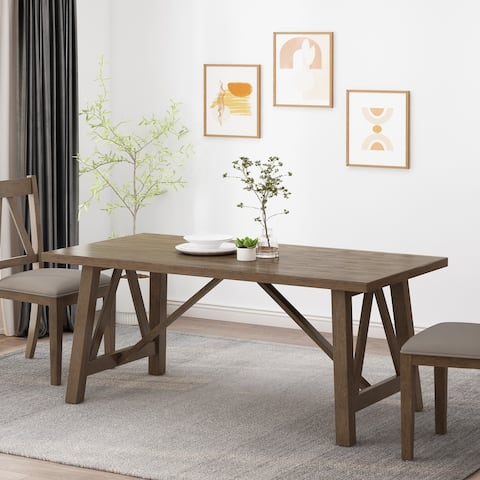 Fairgreens Farmhouse Wood Dining Table by Christopher Knight Home