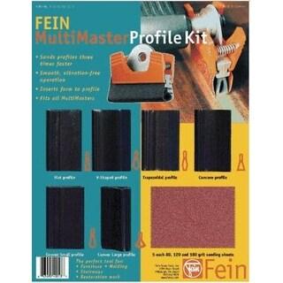 Fein 63806183013 Profile Sanding Kit, 7 Pc