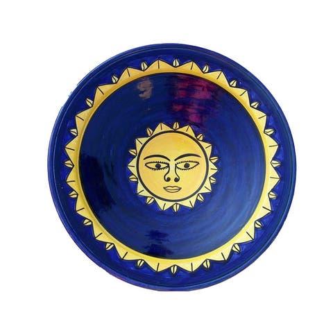 Amira Whimsical Sunsmile XL Ceramic Plate/Wall Hanging