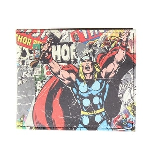 Marvel Mens Thor Faux Leather Graphic Bifold Wallet