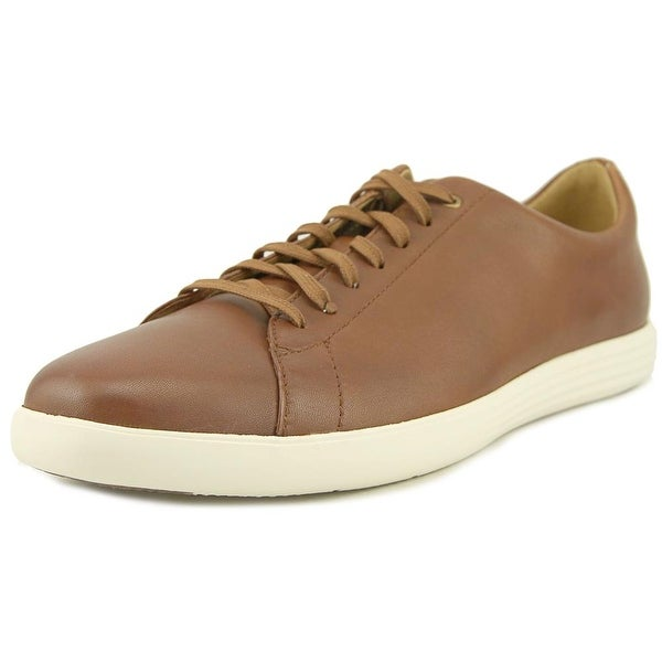 Cole Haan Grand Crosscourt II Men Round Toe Leather Tan Sneakers