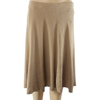 Alfani NEW Beige Camel Women's Size Large L A-Line Fit & Flare Skirt