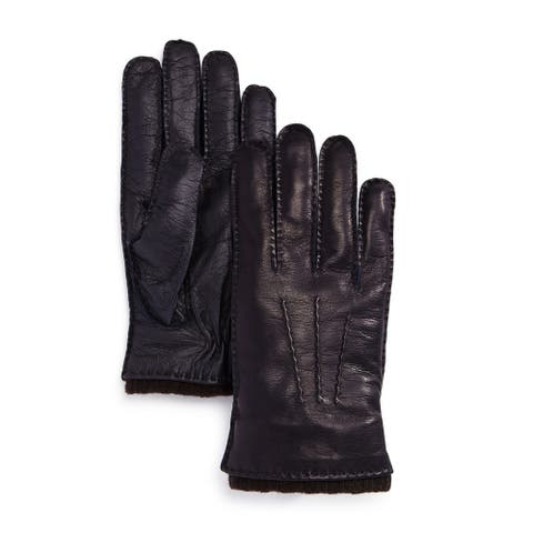 The Men's Store Men's Gloves Blue Brown Size XL Nappa Tech Palm Leather