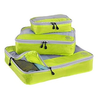 Uncharted UF43 Ultra-Lite Packing Cube, Neon Yellow - 3 Piece Set