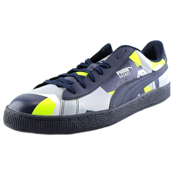 Puma Basket Classic Graphic Men  Round Toe Synthetic Blue Tennis Shoe