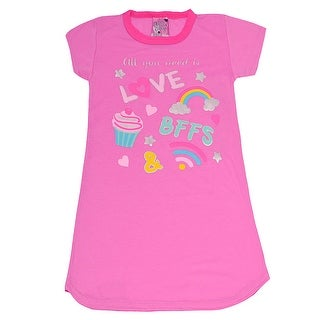 """Sweet n Sassy Girls Fuchsia """"All You Need Is Love"""" Print Nightgown (3 options available)"""