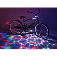Boom Brightz Color Changing LED Bicycle Accessory w/ Bluetooth Speaker, RGB - multi