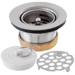 """LDR 5011800 Sink And Tub Strainer, Chrome, 2-2 1/2""""